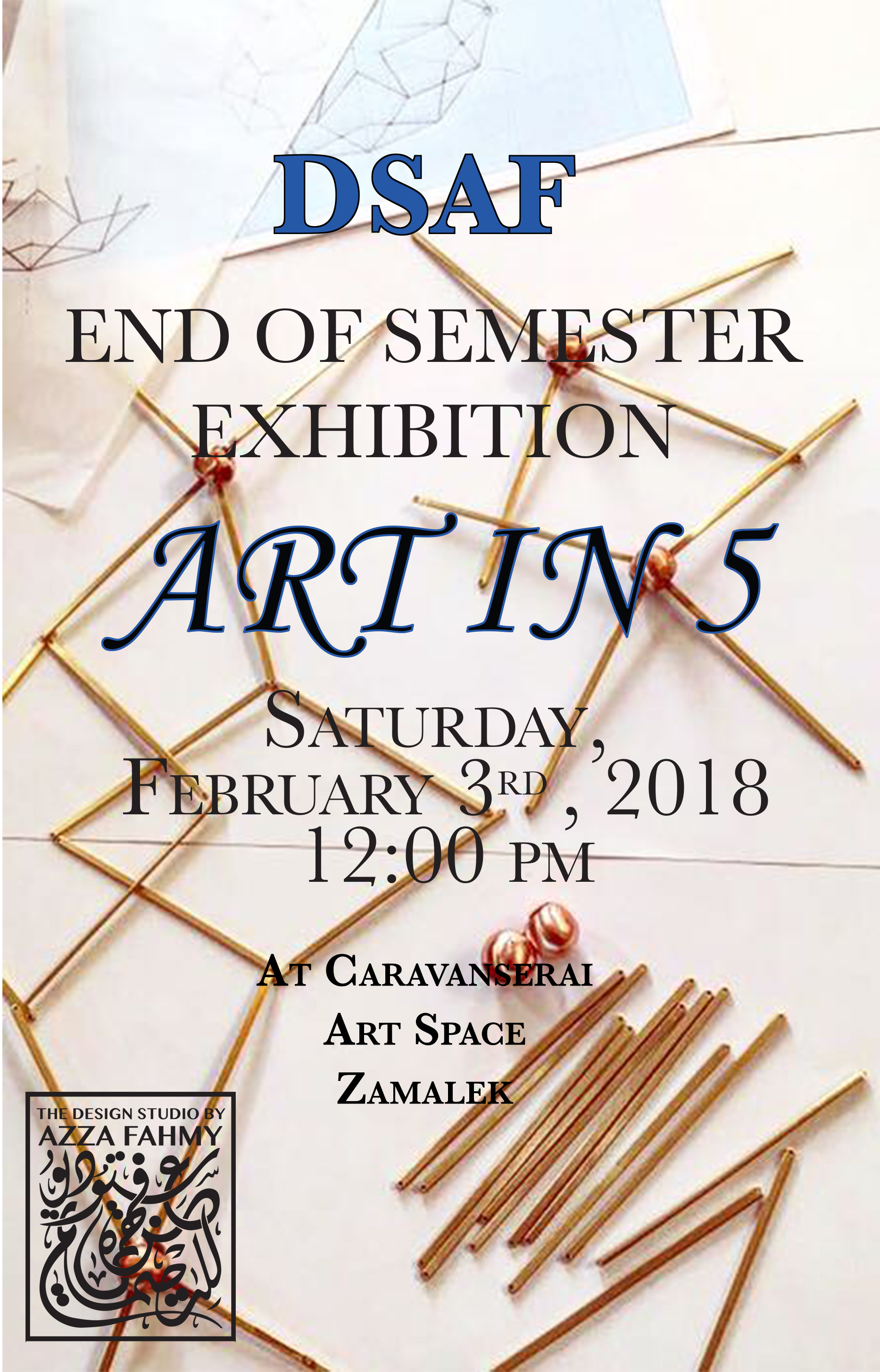 DSAF End of Semester Exhibition – Art in 5